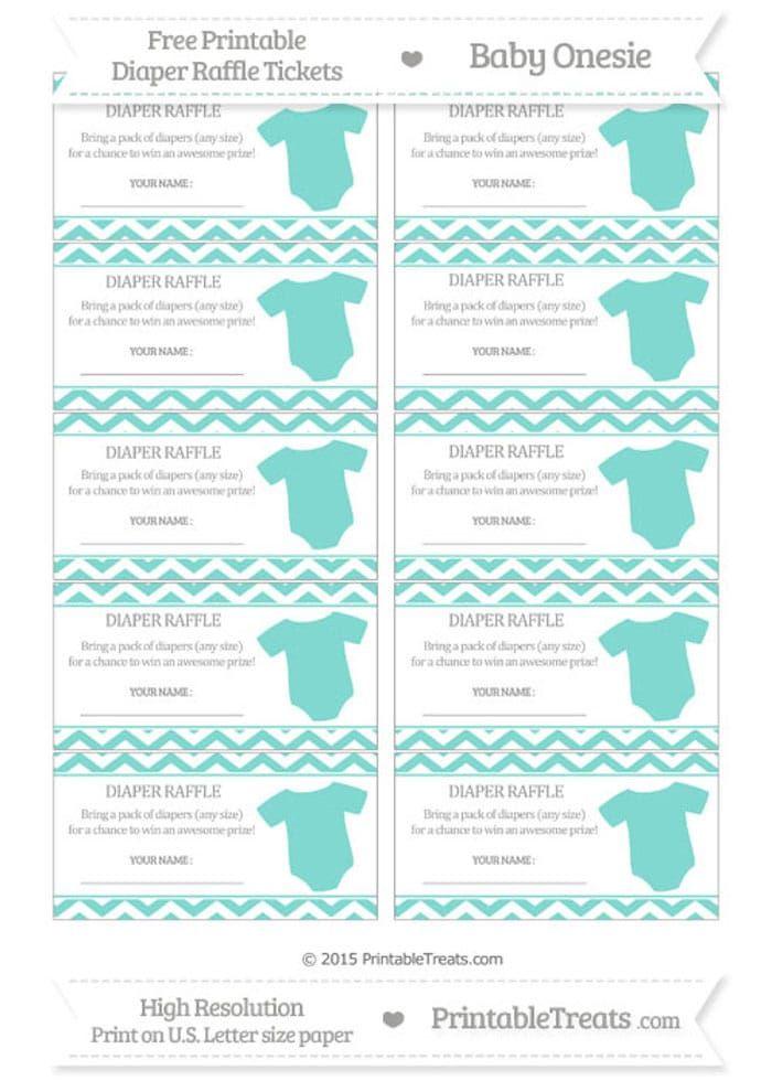 diaper raffle tickets printable free