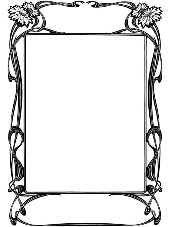 Dover Publications Art Nouveau Frame Liberty