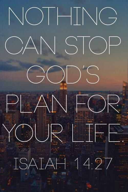 Nothing can stop God's plan for your life ...