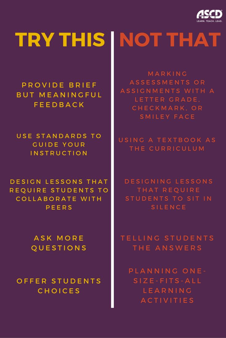 When it comes to student engagement, try this, not that.