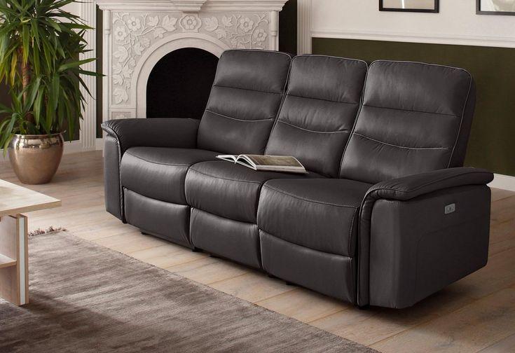 3 Sitzer Maldini Mit Hohem Sitzkomfort Und Usb Steckeranschluss Breite 196 Cm 3 Sitzer Sofa Wohnen Zuhause