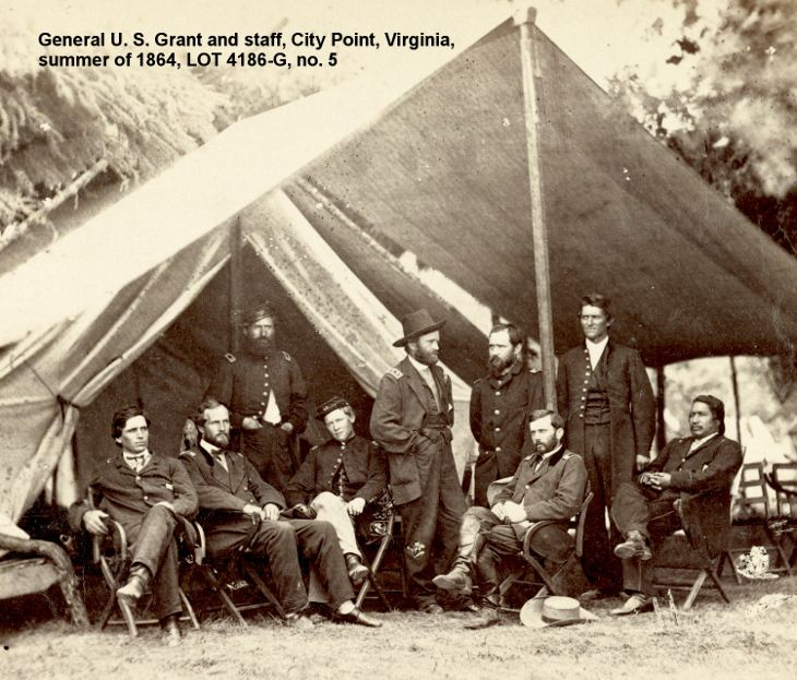 General Grant and staff during the siege of Petersburg, VA