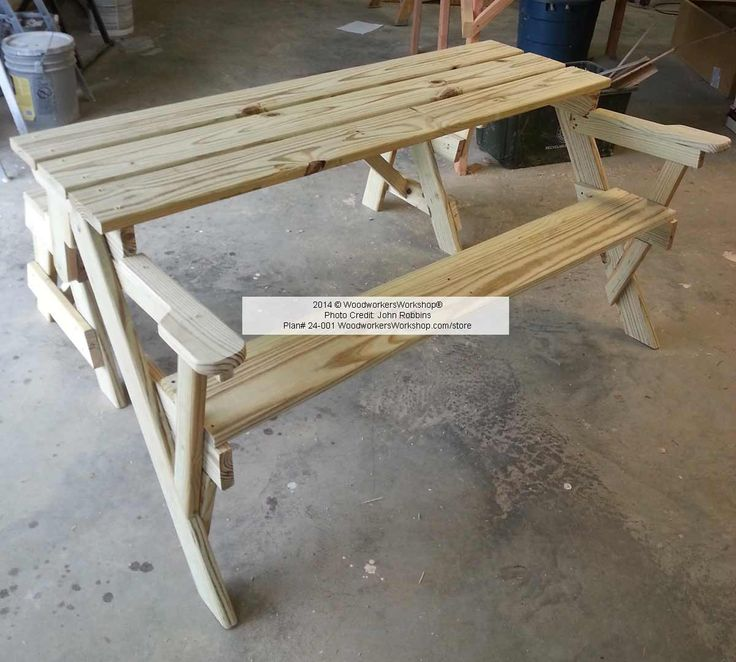 Folding Bench And Picnic Table Combo Woodworking Plan You May Download Plans From The Banner Below