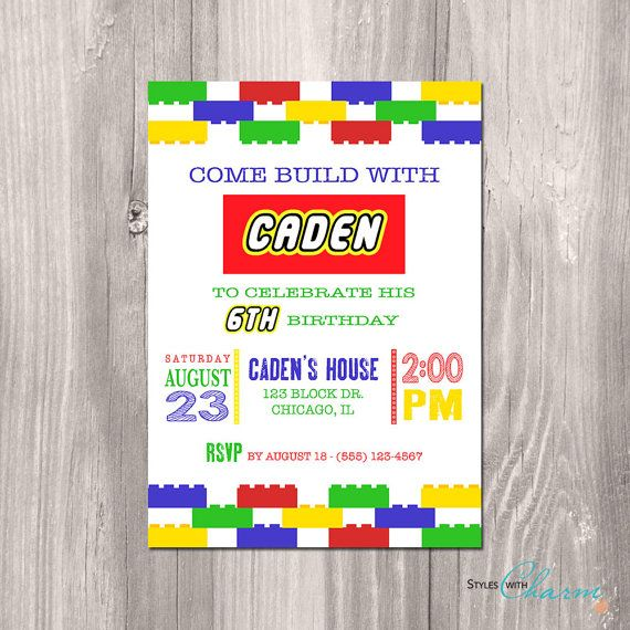 The 108 best party for mr images on pinterest birthdays paper lego invitation lego birthday invitation lego printable birthday invitation lego party printable filmwisefo