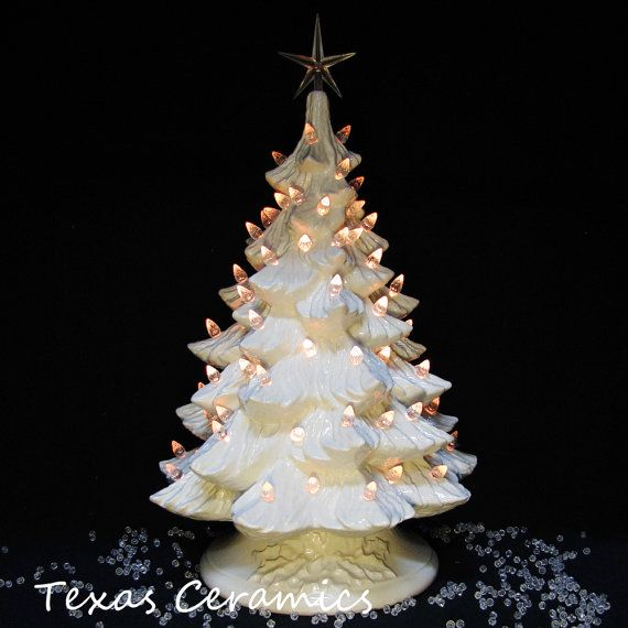 Winter White Ceramic Christmas Tree Crystal by TexasCeramics, $149.00