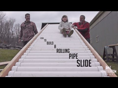 Construct a Rolling Pipe Slide For Your Yard