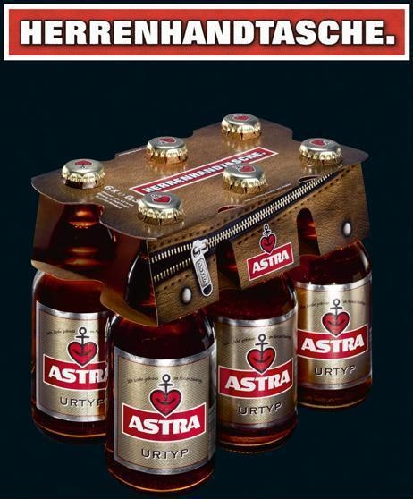 Astra. Was dagegen? Kreative Verpackung der Astra-Brauerei speziell für den Mann - - - Nicht zu verwechseln mit der Braumeister Selektion. 6 Klassiker deutscher Braukunst vereint in einem Sixpack mit Booklet: http://braumeister-selektion.de/ Bier Biere Brauerei Braukunst