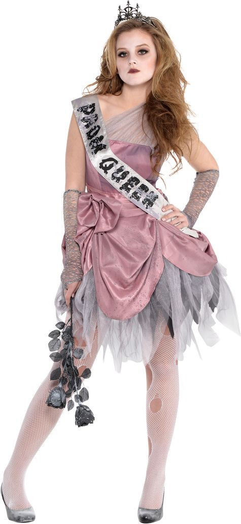Teen Girls Zombie Prom Queen Costume - Party City
