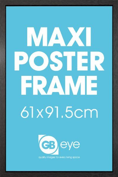 black 3 cm thick mdf moulding wooden effect frame for maxi poster in new amazoncouk kitchen home