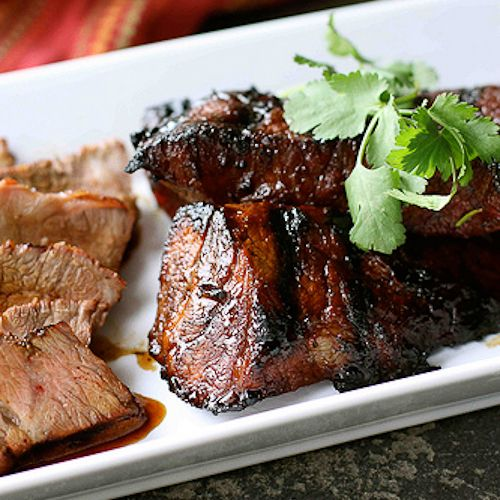 The marinade is rich with the flavors of molasses, soy sauce, ginger, garlic and chili powder. Try it with steak, chicken thighs or pork tenderloin.