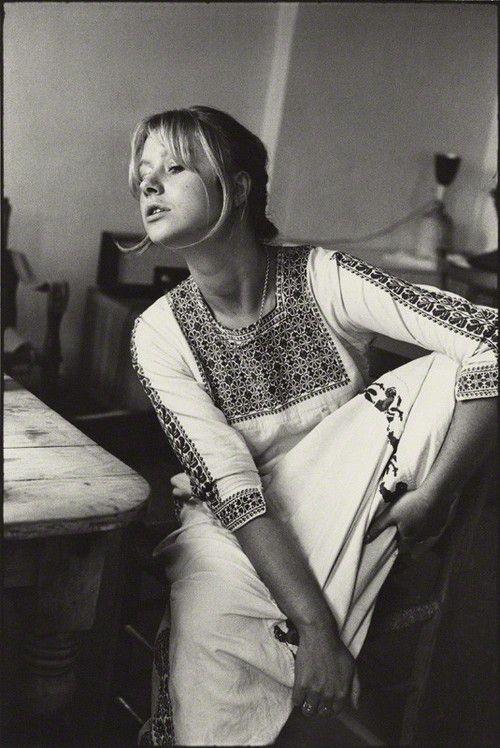 Helen Mirren At home In London, 1969. Photo ByNeil Libbert.