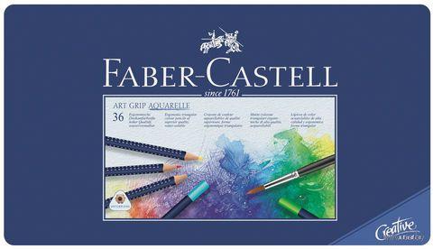 Акварельные карандаши ART GRIP AQUARELLE в металической коробке (36 цветов)