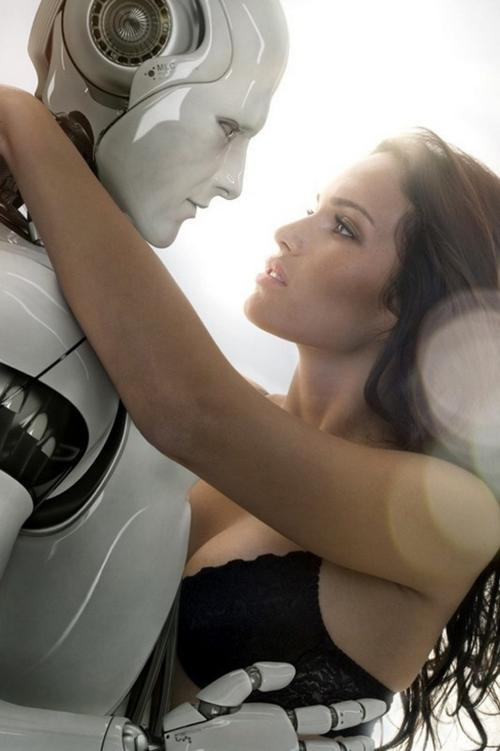 Girl having sex with robot