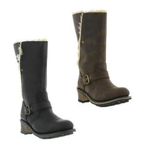 Caterpillar-Anna-Womens-Black-Brown-Wide-Fit-Leather-Cat-Boots