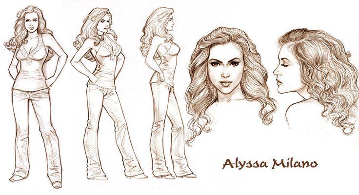 Allyssa Milano Model Sheet by Tarzman.deviantart.com