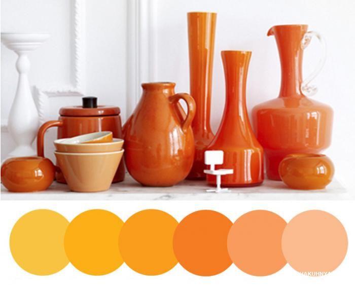 Оранжевая кухня в интерьере – идеи с фото