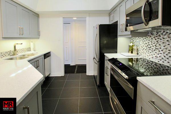 Efficient condo kitchen.  www.mrkitchens.ca