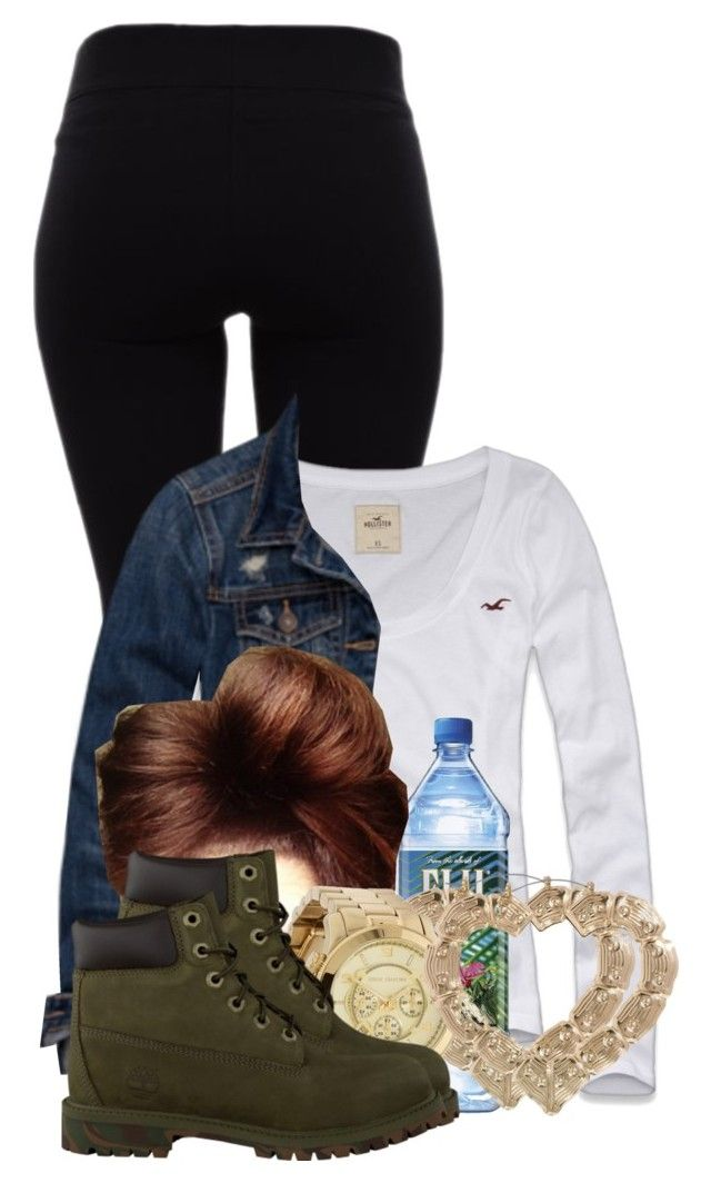 """Untitled #2927"" by alisha-caprise ❤ liked on Polyvore featuring Helmut Lang, Hollister Co., Abercrombie & Fitch, ASOS, Michael Kors and Timberland"