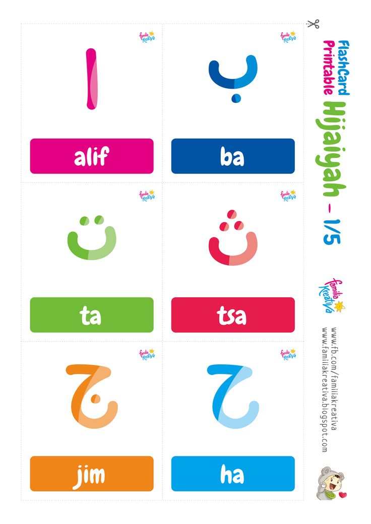 Familia Kreativa: Flashcard Printable Hijaiyah