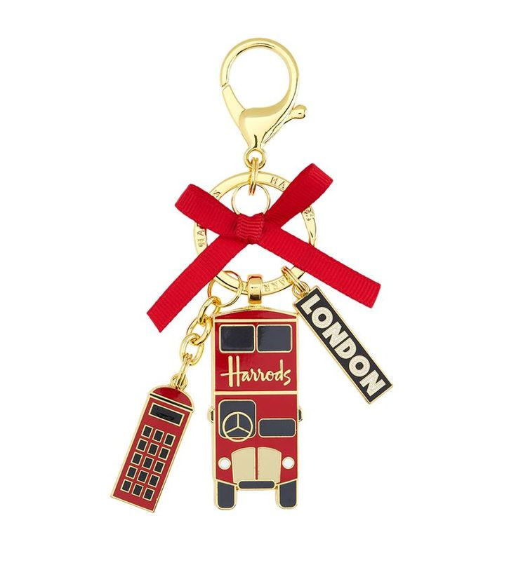Harrods Red Bus Bag Charm | Harrods.com