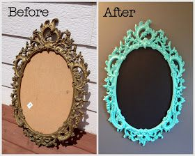 Miss Tweedle: Spray Painting an Old Frame- A Chalkboard Tranformation