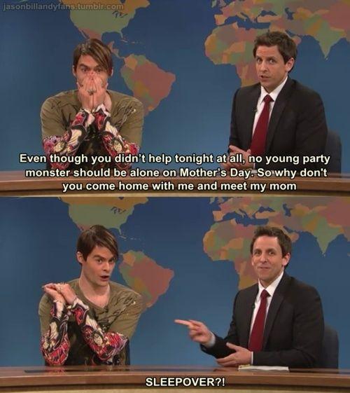 I love Seth Meyers and Stephan!