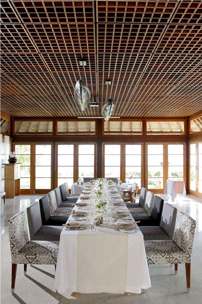 The Long Table at Dining Room Tirtha Luhur by Tirtha Bridal Uluwatu Bali