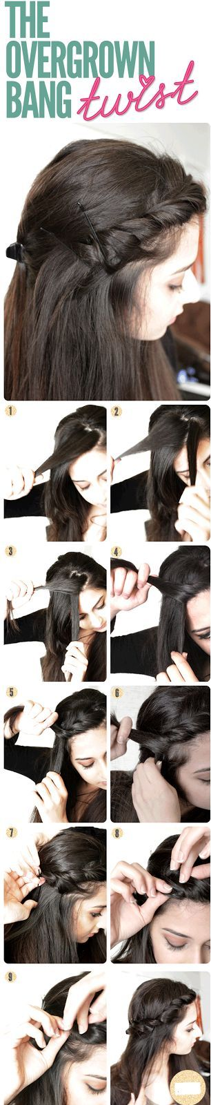 Hair Style : Love doing this when my long bangs become unmanage...