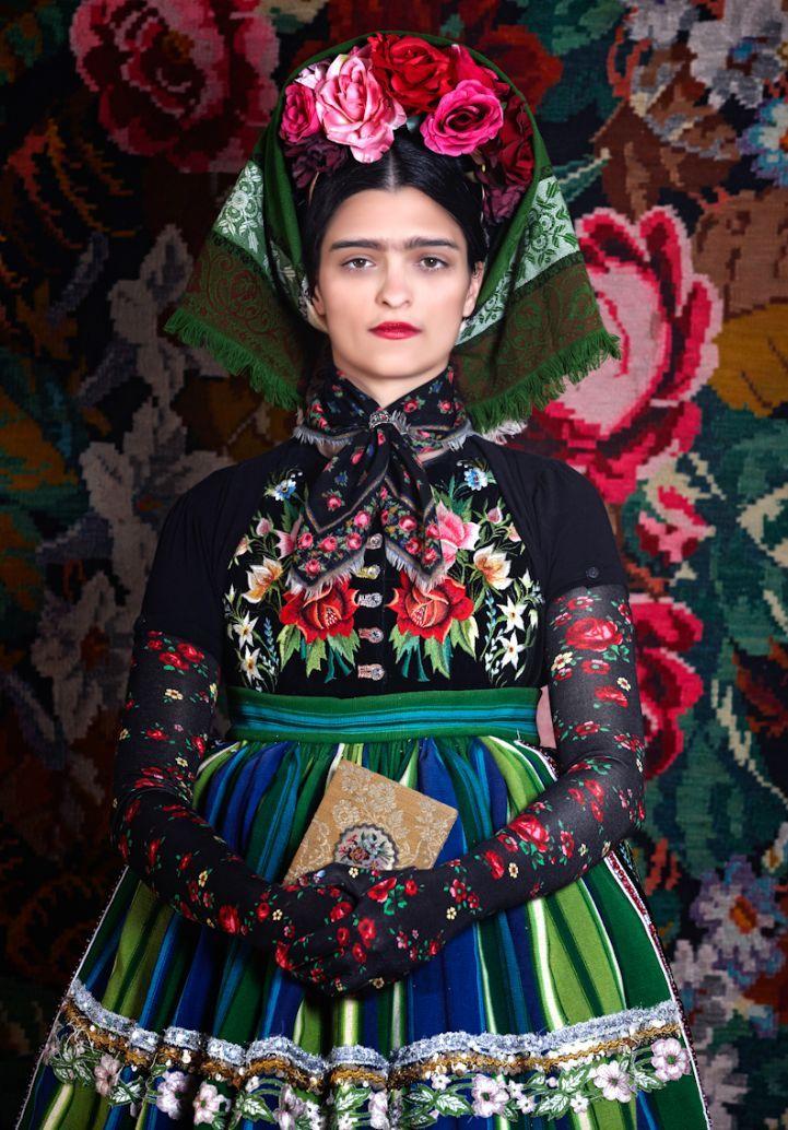 From fashion designer Susanne Bisovsky and inspired by Frida Kahlo