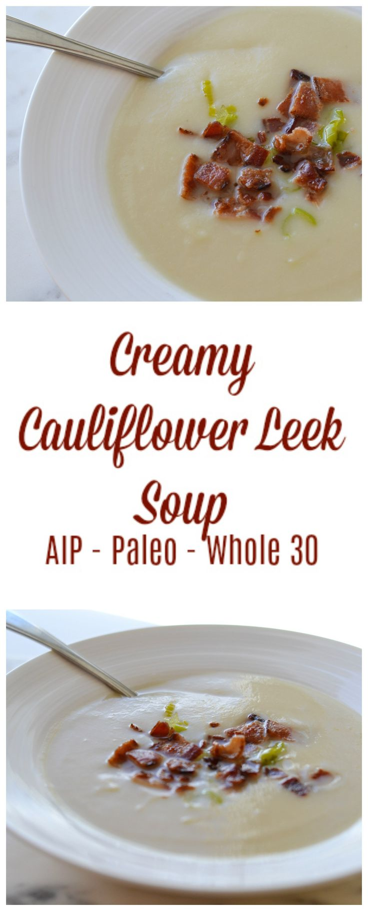 Creamy Cauliflower Leek Soup (AIP/Paleo/Whole 30) | Lichen Paleo, Loving AIP