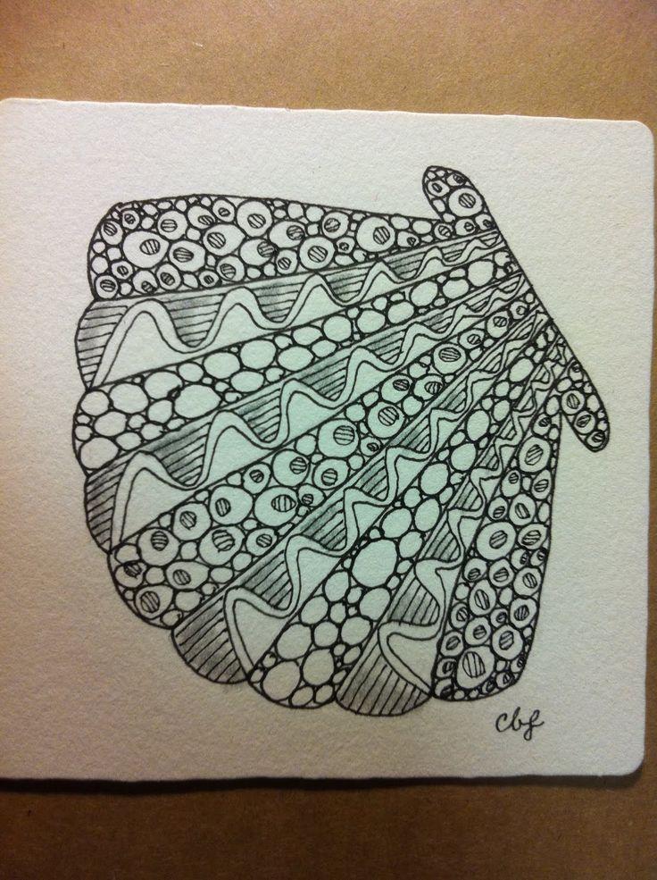 Celebrate Possibilities!: Zentangle Challenge #24 - Stripes!Zentangle Challenges, Doodles Zentangle Cr, Shells Doodles, Doodles Zentangle Circleart, Challenges 24, Doodles Zentangles Cr, Doodles Zentangles Circleart, Zendoodle Art, The Sea