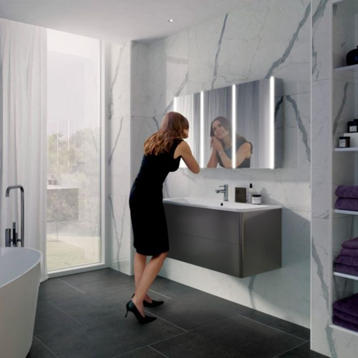 Best Illuminated Mirrored Bathroom Cabinets Images On Pinterest