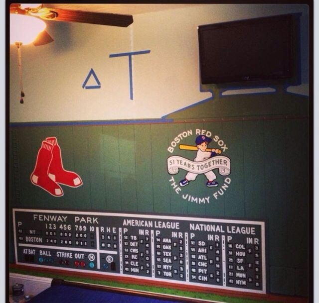 Red sox boston red sox bedroom pinterest red for Boston red sox bedroom ideas