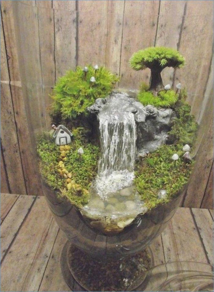 Indoor Fountain Diy Fairy Garden Decor Miniature Fairy Gardens