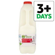 Tesco Organic British Skimmed Milk 1.136L/2Pints - Groceries - Tesco Groceries
