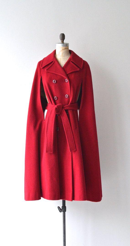 Starkweather Hall wool cape 1970s wool cape coat by DearGolden