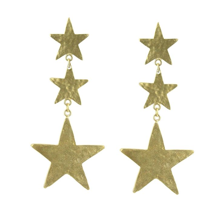 These impressive metal star earrings are the perfect accessory for an evening look. Gold Plated metal. Price: 96 euros. Free Shipment.