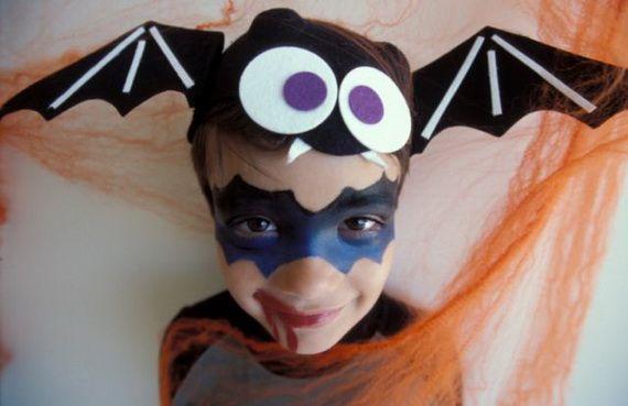 Batman halloween makeup idea for boy