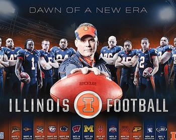 38: Illinois | College Football Rankings: The Top 50 by 2012 Team Schedule Posters | Bleacher Report