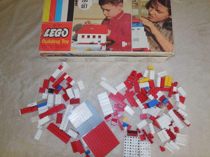 Vintage 1960's LEGO Building Set No. 285 w/ Box Incomplete - Nice #LEGO