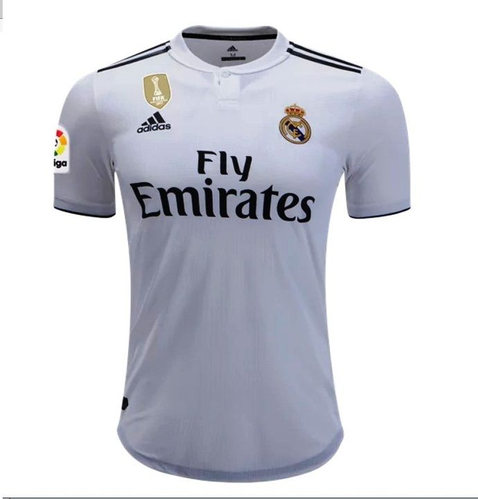 Real Madrid 2018 2019 Home Stadium Player Jersey White By Worldsoccer 37 56 Usd Fan Shirts Real Madrid Madrid