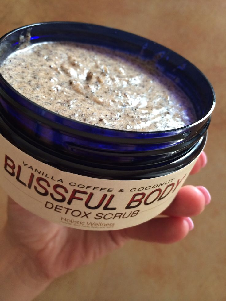 Blissful Body Detox Scrub with coffee and coconut! The newest addition to our Holistic Wellness product line up. Amazing for reducing cellulite, smoothing and toning the skin.