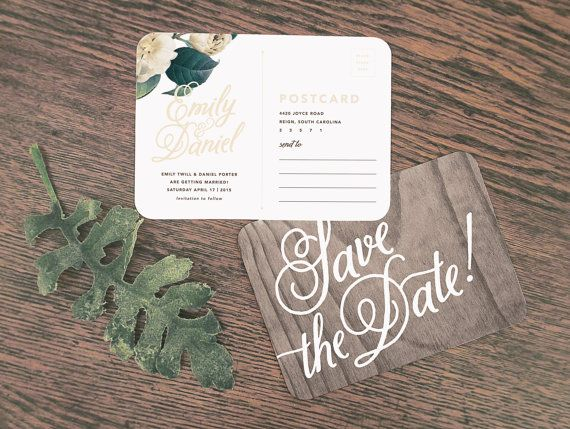 Woodland Floral Wedding Invitation & di rachelmarvincreative