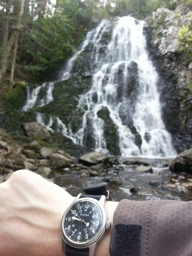 My bulova WWII hack watch re-issue has been to Hays falls