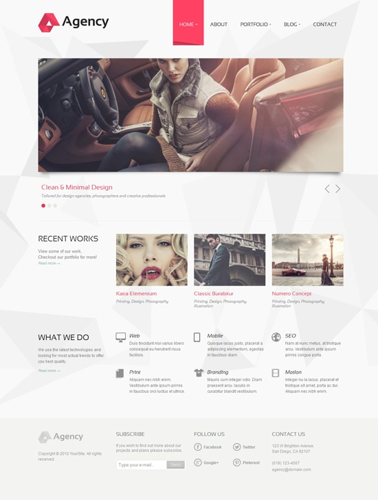 clean, minimal, red  ~ #WebDesign #Inspiration