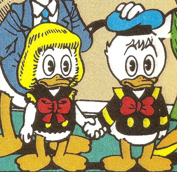 Donald Duck had a twin sister called Della Duck - she was the mom of the triplets - 9GAG