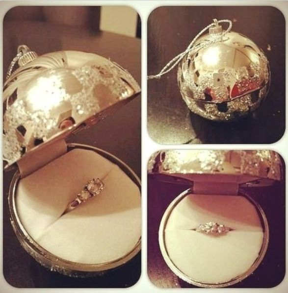 marriage proposal ornament