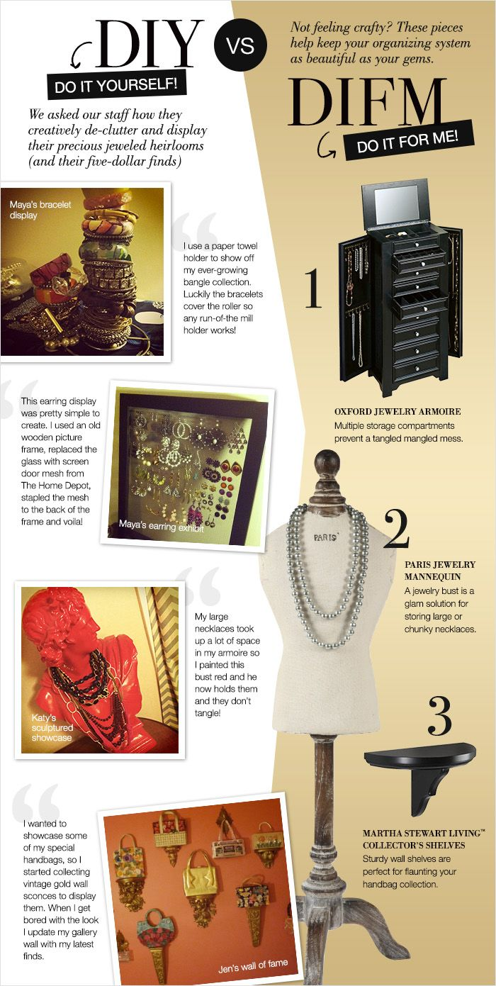 Do It Yourself Jewelry: 212 Best Images About Organizing