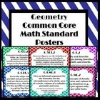 Included in this set are 51 posters. Each poster has a Geometry high school common core standard on it. Check out the free preview file to get an i...