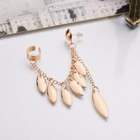 Leaves Tassel Earrings For Women - Antique Gold Plated - By sexybling.com